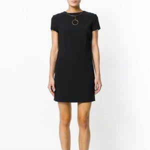 Helmut Lang Frayed Edge Short Sleeve Mini Dress